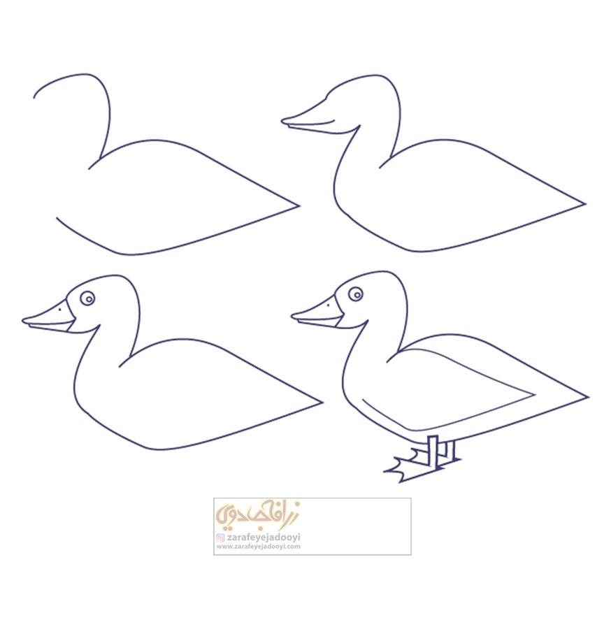 زرافه-جادویی-نقاشی-ساده-اردک