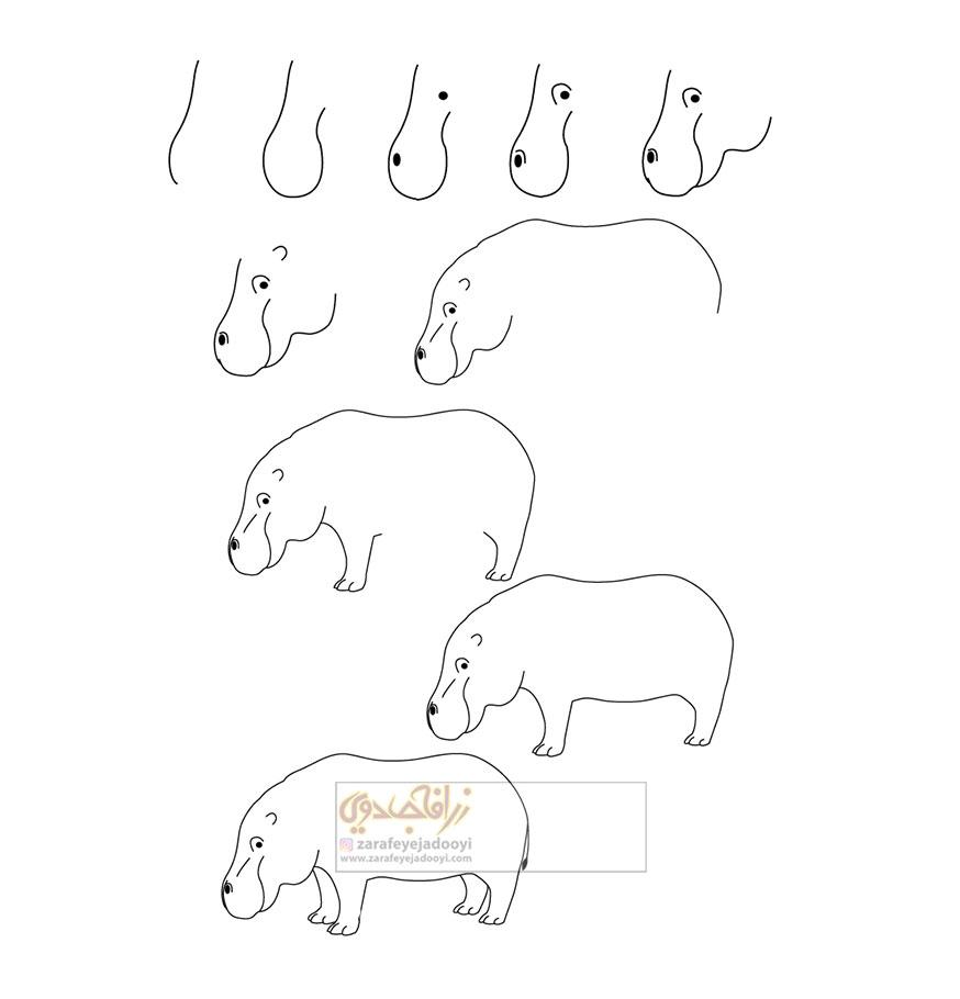 زرافه-جادویی-نقاشی-ساده-اسب-آبی-2
