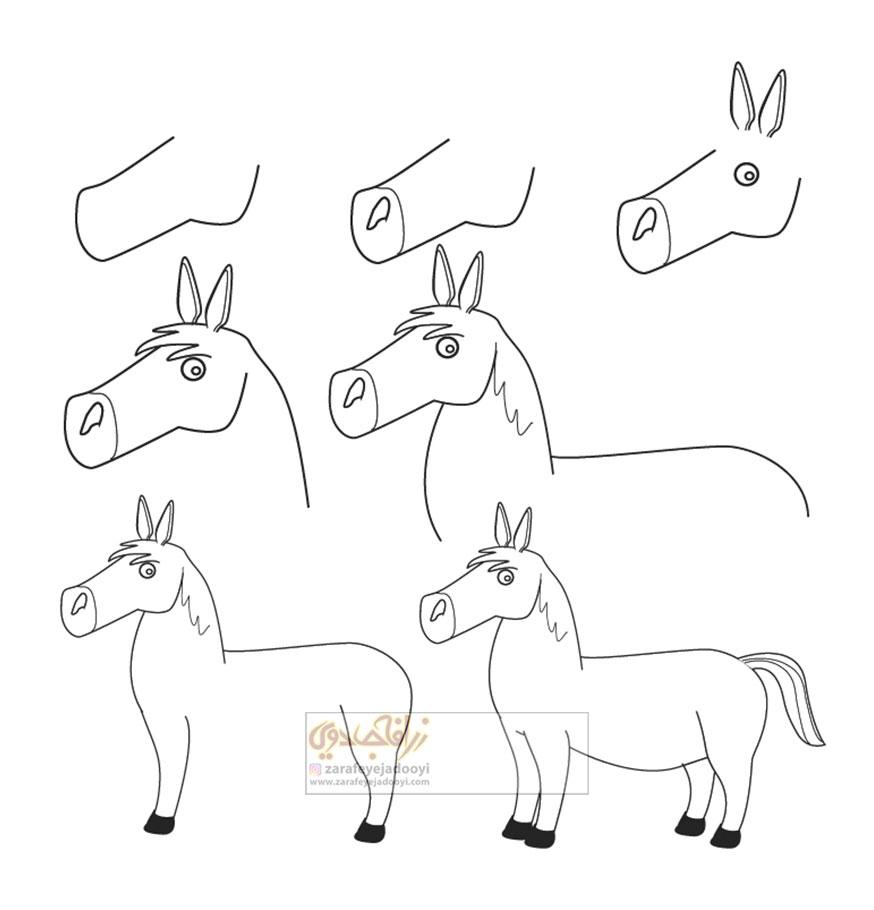 زرافه-جادویی-نقاشی-ساده-اسب-2