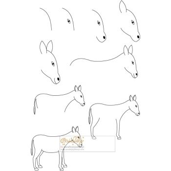 زرافه-جادویی-نقاشی-ساده-الاغ