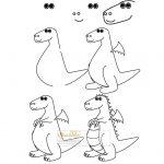 زرافه-جادویی-نقاشی-ساده-اژدها-کارتونی