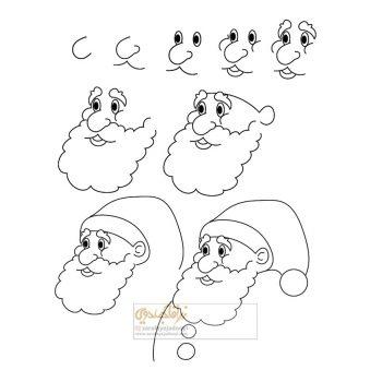 زرافه-جادویی-نقاشی-ساده-بابانوئل-2