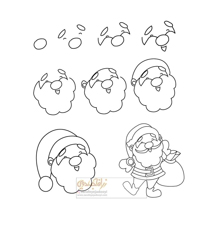 زرافه-جادویی-نقاشی-ساده-بابانوئل