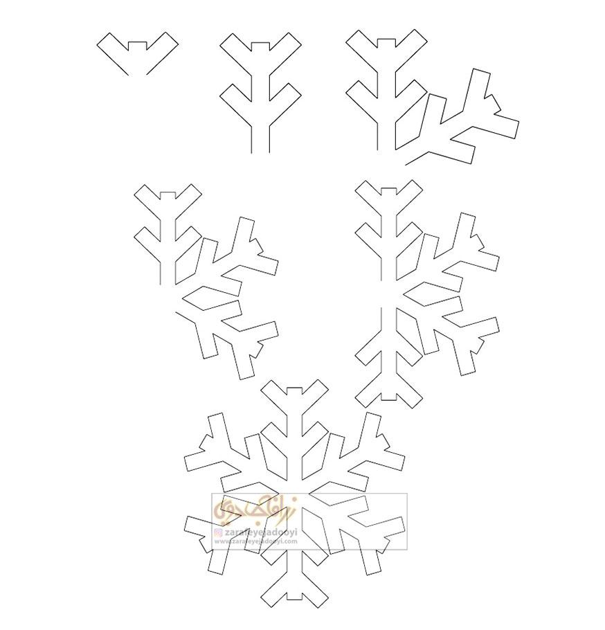 زرافه-جادویی-نقاشی-ساده-برف-دانه