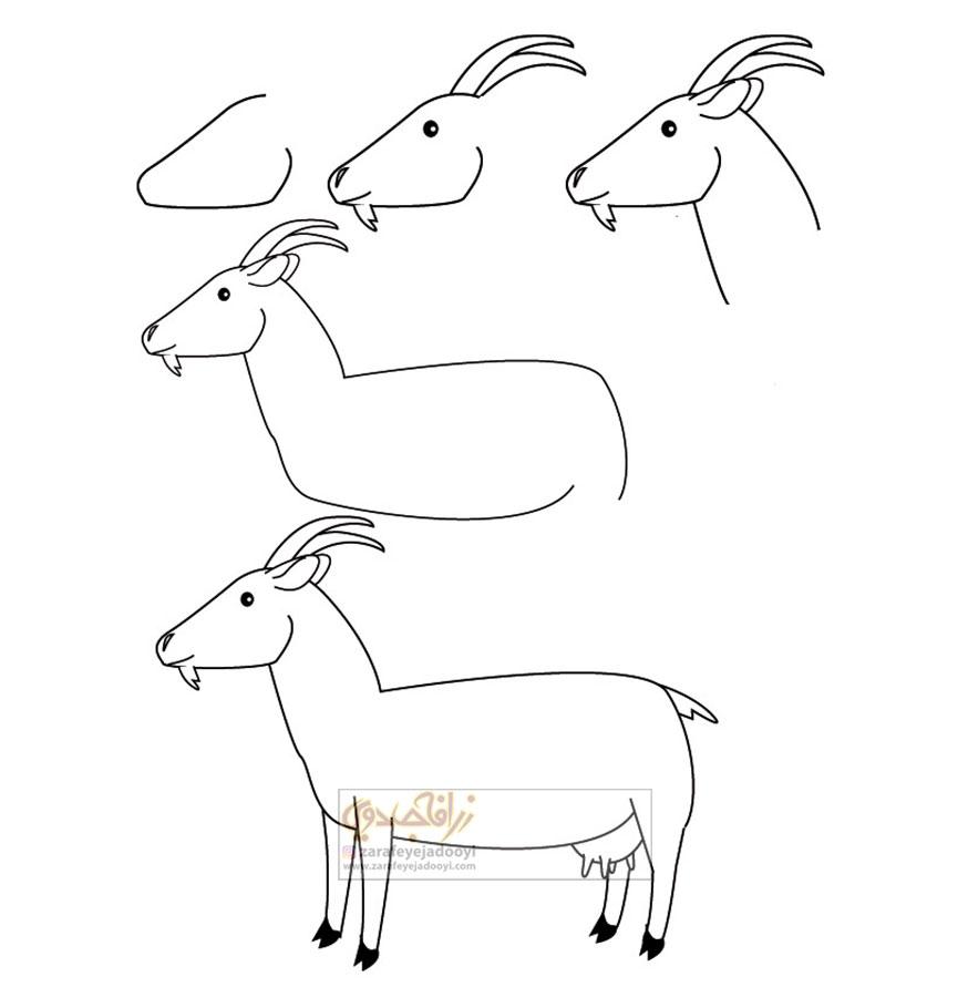 زرافه-جادویی-نقاشی-ساده-بز