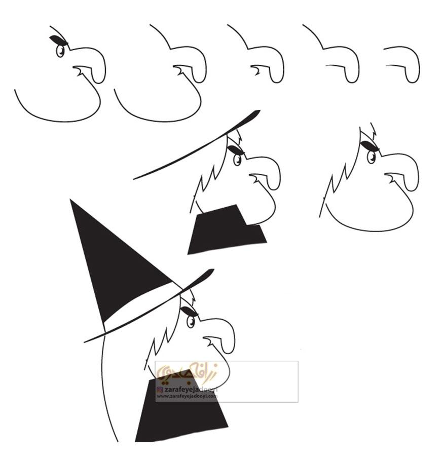 زرافه-جادویی-نقاشی-ساده-جادوگر