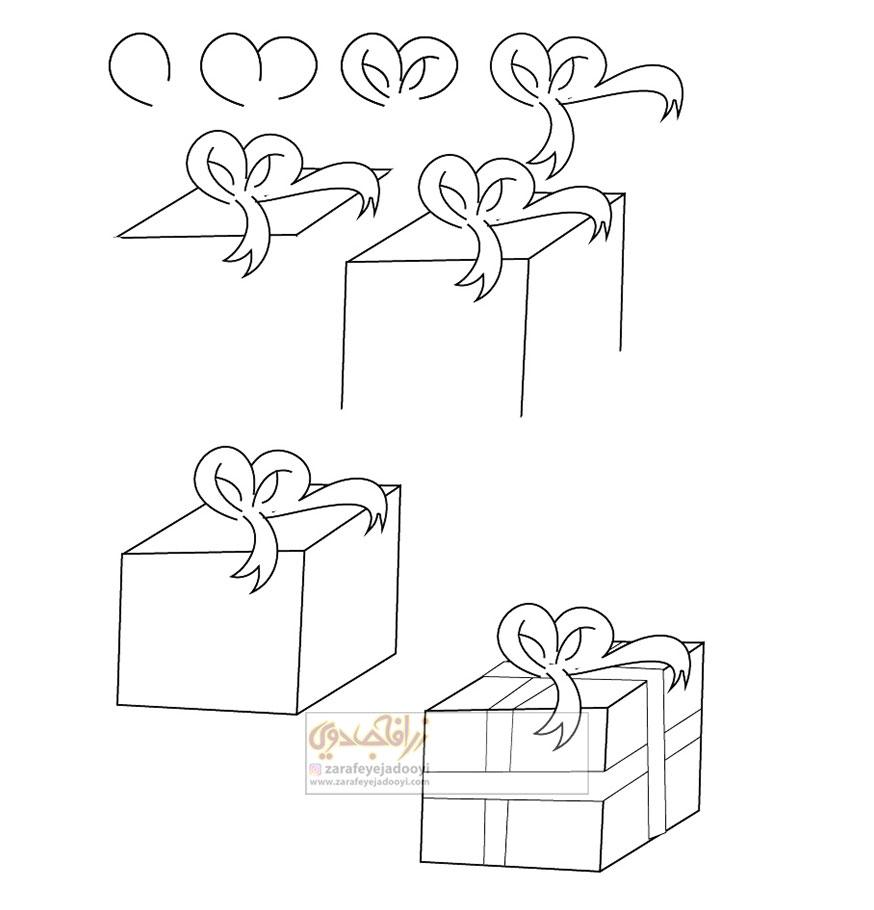 زرافه-جادویی-نقاشی-ساده-جعبه-کادو