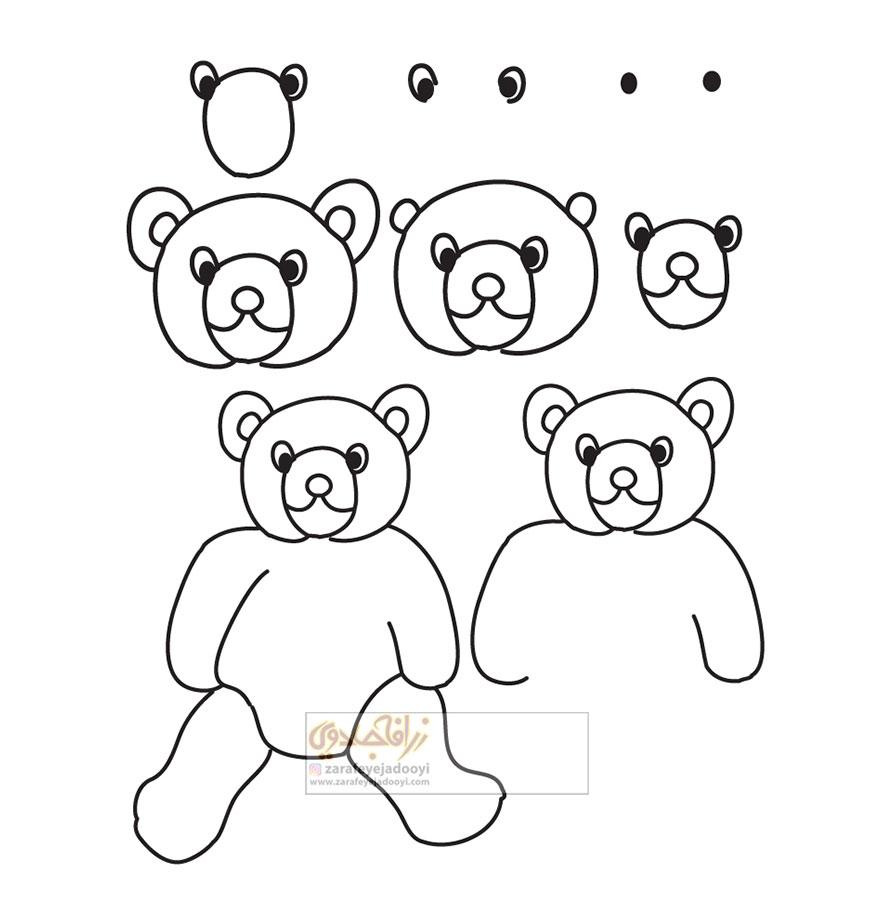 زرافه-جادویی-نقاشی-ساده-خرس-عروسکی