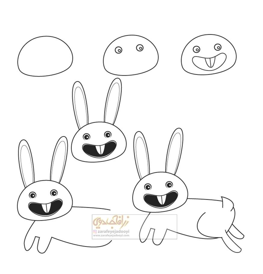 زرافه-جادویی-نقاشی-ساده-خرگوش