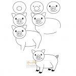 زرافه-جادویی-نقاشی-ساده-خوک