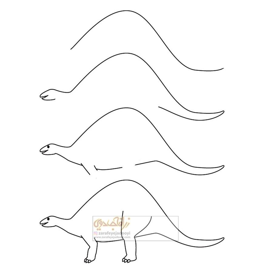زرافه-جادویی-نقاشی-ساده-دایناسور-2