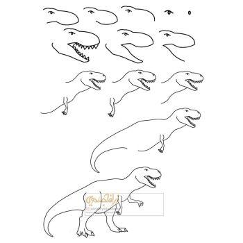 زرافه-جادویی-نقاشی-ساده-دایناسور-3