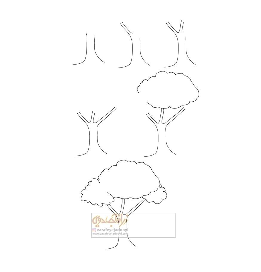 زرافه-جادویی-نقاشی-ساده-درخت