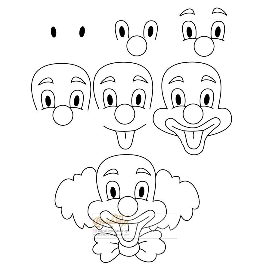 زرافه-جادویی-نقاشی-ساده-دلقک