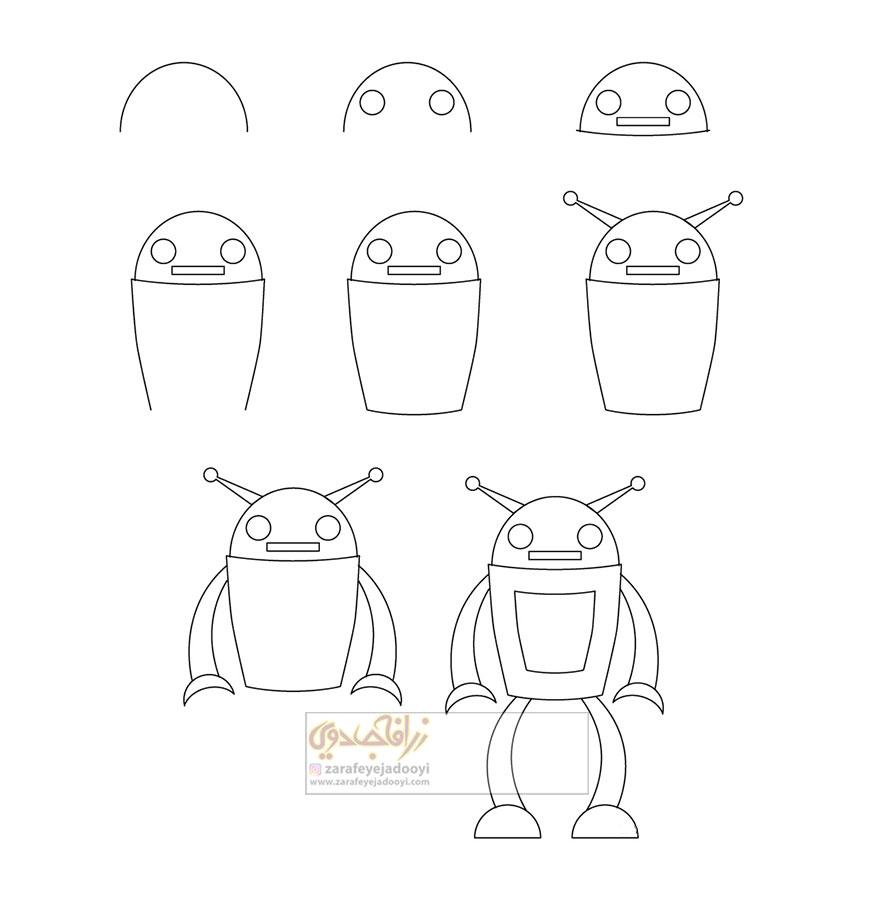 زرافه-جادویی-نقاشی-ساده-ربات