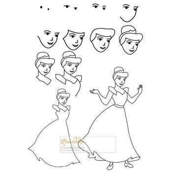 زرافه-جادویی-نقاشی-ساده-سیندرلا