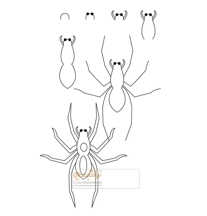 زرافه-جادویی-نقاشی-ساده-عنکبوت