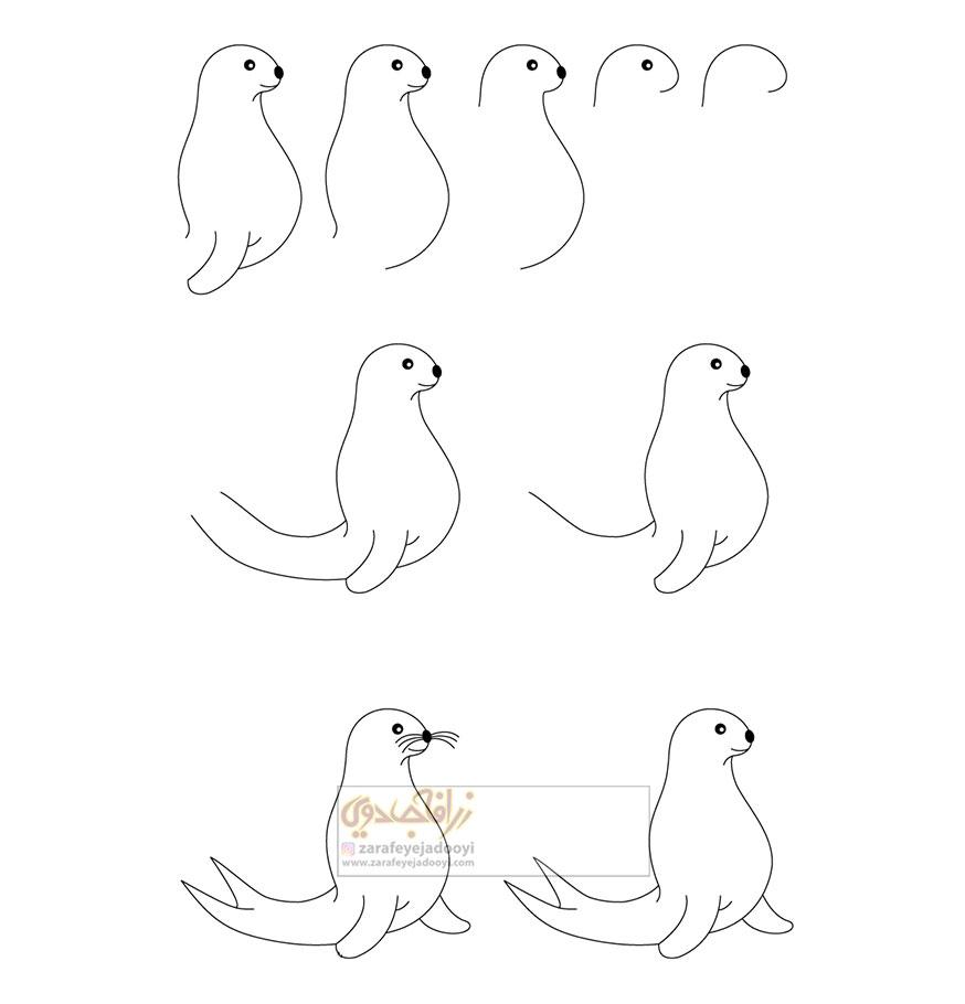 زرافه-جادویی-نقاشی-ساده-فک