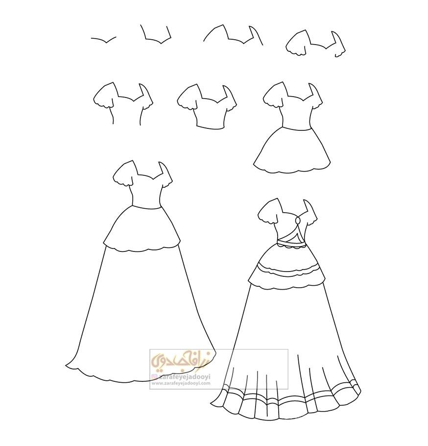 زرافه-جادویی-نقاشی-ساده-لباس-دخترانه
