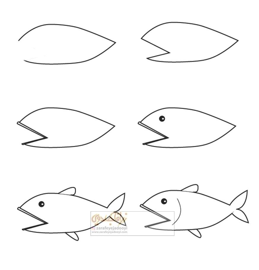 زرافه-جادویی-نقاشی-ساده-ماهی-2