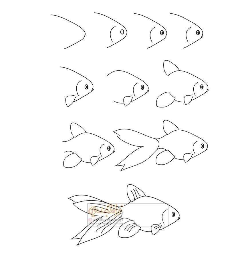 زرافه-جادویی-نقاشی-ساده-ماهی