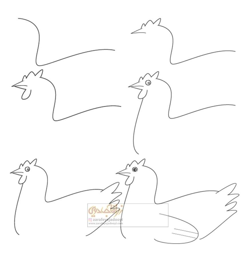 زرافه-جادویی-نقاشی-ساده-مرغ