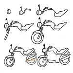 زرافه-جادویی-نقاشی-ساده-موتورسیکلت