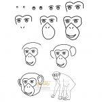زرافه-جادویی-نقاشی-ساده-میمون-شامپانزه