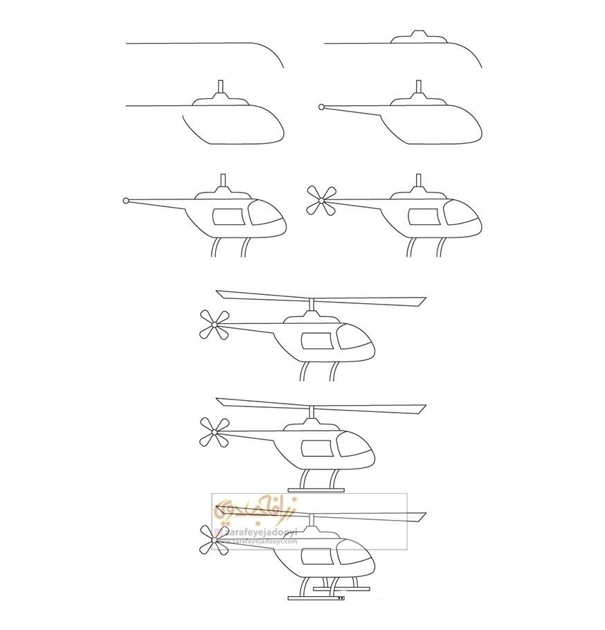 زرافه-جادویی-نقاشی-ساده-هلیکوپتر