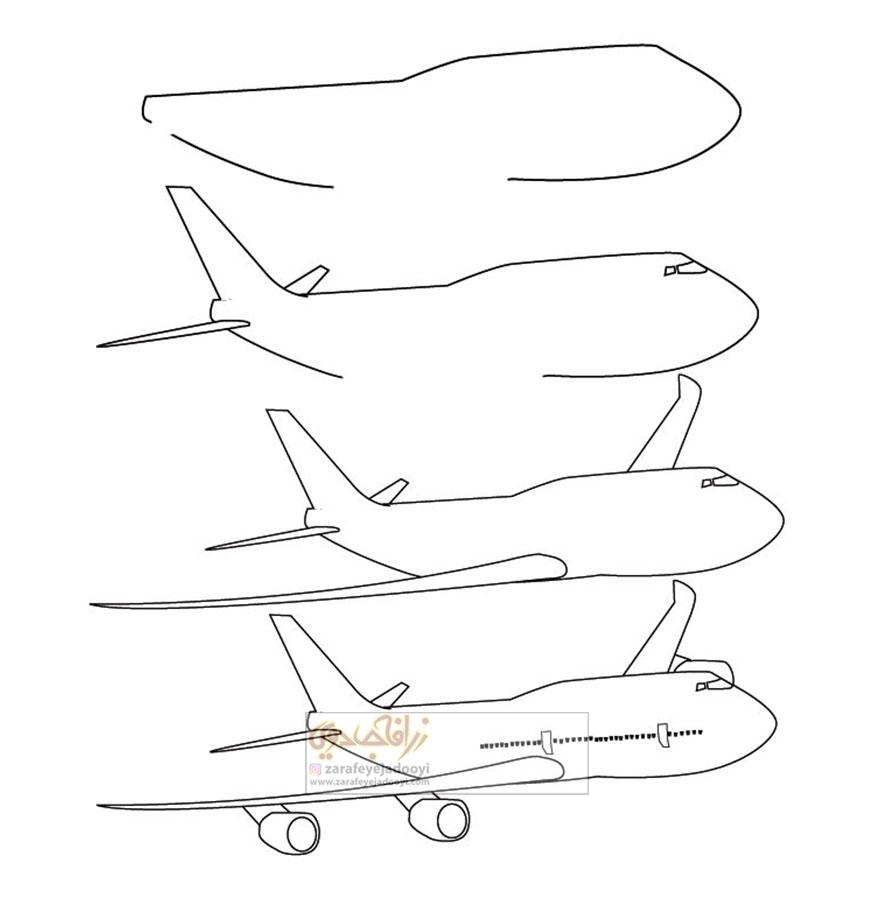 زرافه-جادویی-نقاشی-ساده-هواپیما-مسافربری