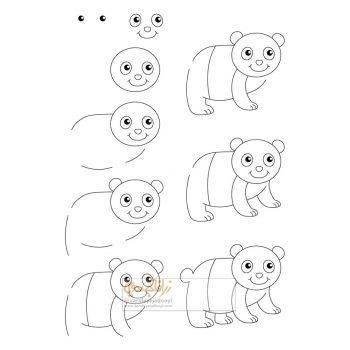 زرافه-جادویی-نقاشی-ساده-پاندا-کوچولو
