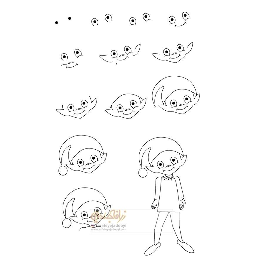 زرافه-جادویی-نقاشی-ساده-پسر-دلقک