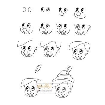 زرافه-جادویی-نقاشی-ساده-پسر-کارتونی