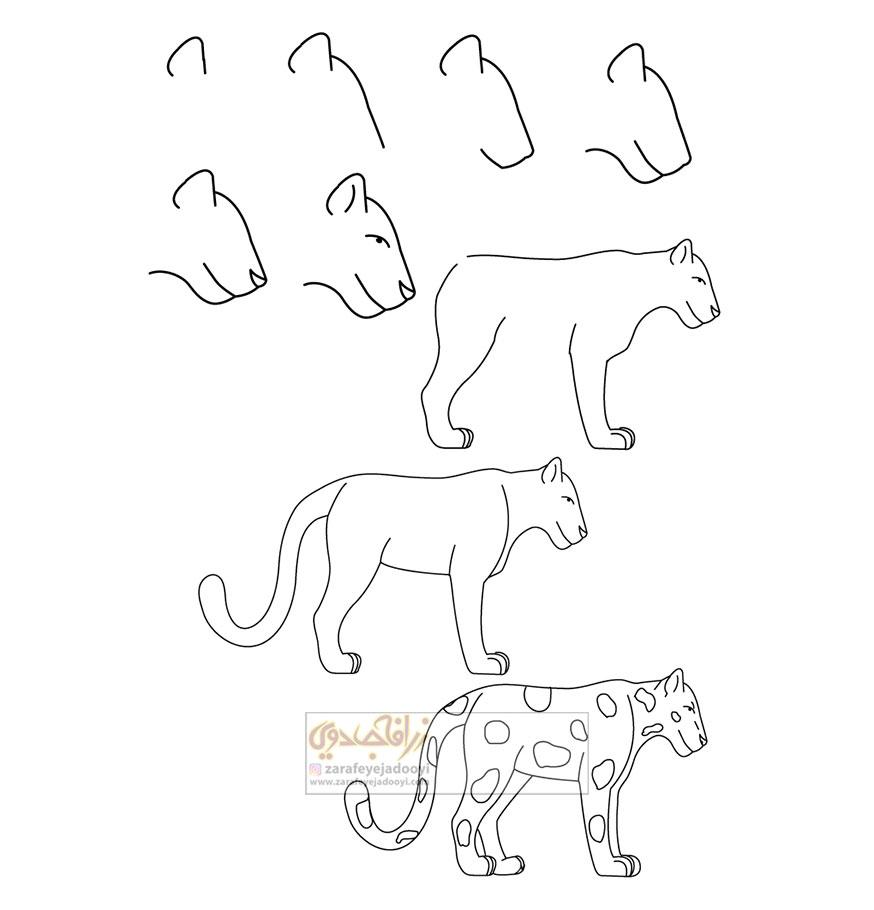 زرافه-جادویی-نقاشی-ساده-پلنگ