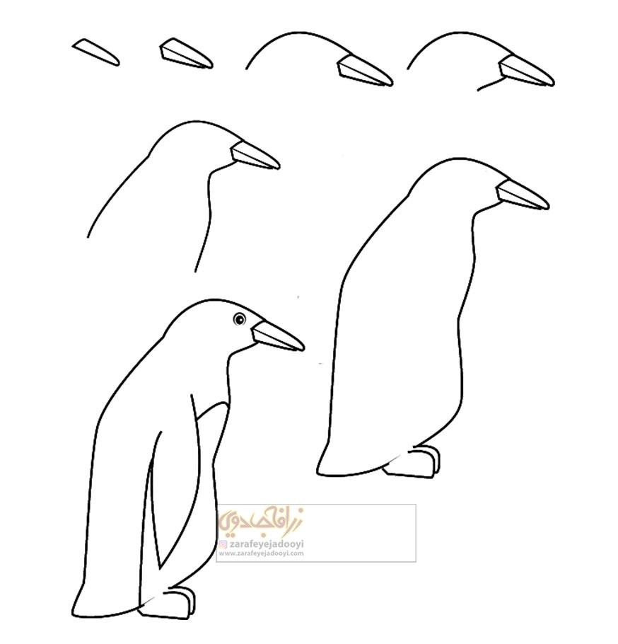 زرافه-جادویی-نقاشی-ساده-پنگوئن-2