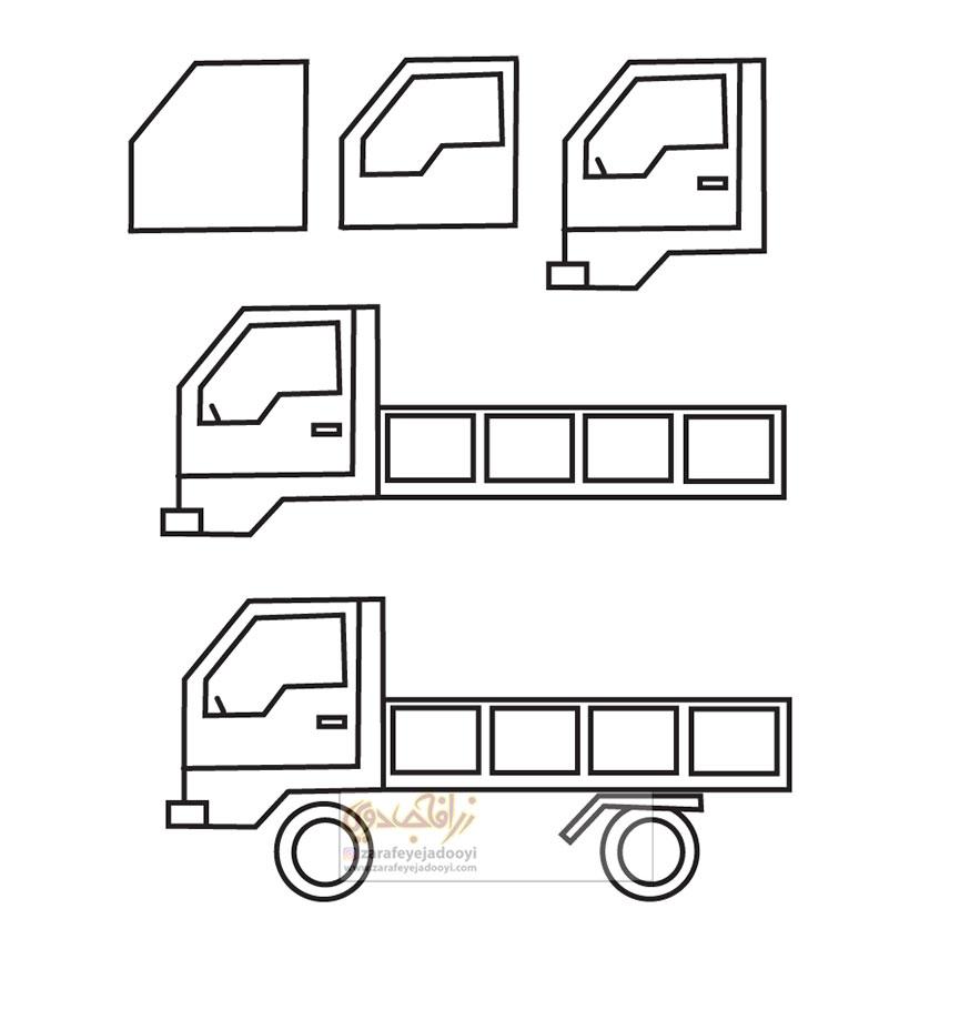 زرافه-جادویی-نقاشی-ساده-کامیون