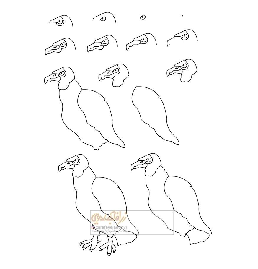 زرافه-جادویی-نقاشی-ساده-کرکس