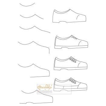 زرافه-جادویی-نقاشی-ساده-کفش
