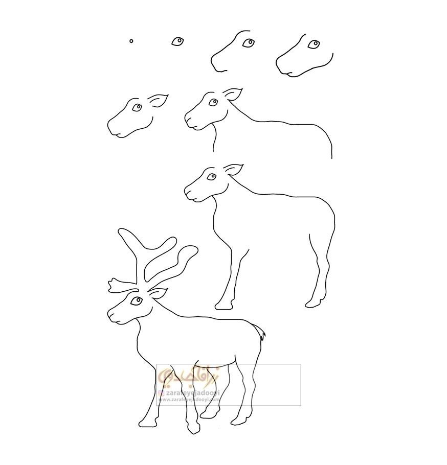 زرافه-جادویی-نقاشی-ساده-گوزن