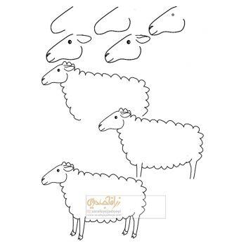 زرافه-جادویی-نقاشی-ساده-گوسفند