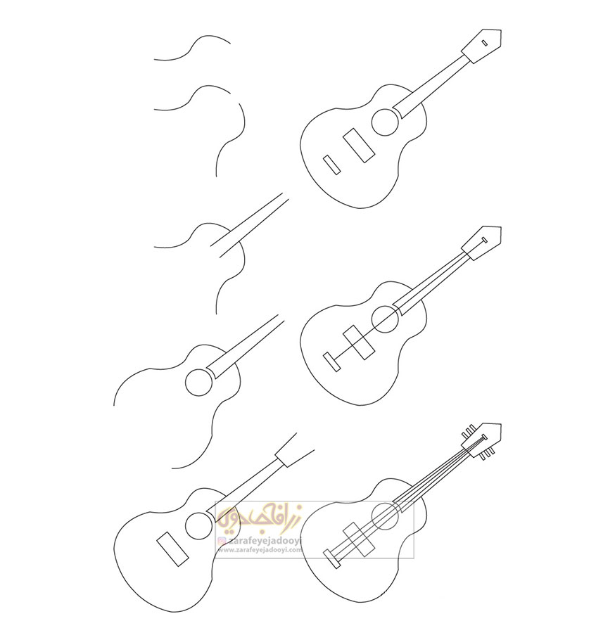 زرافه-جادویی-نقاشی-ساده-گیتار
