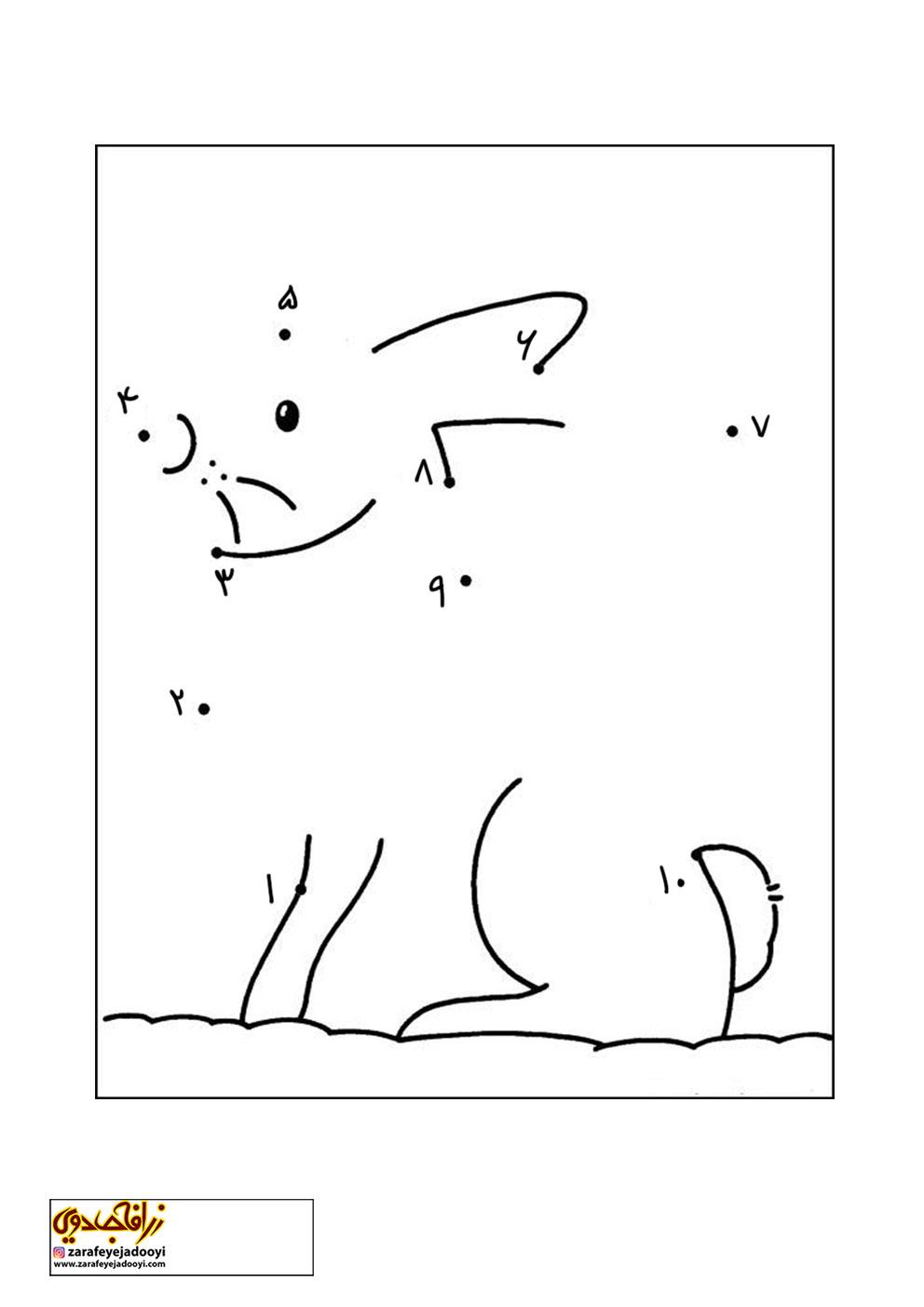 زرافه-جادویی-نقاشی-نقطه-به-نقطه-046