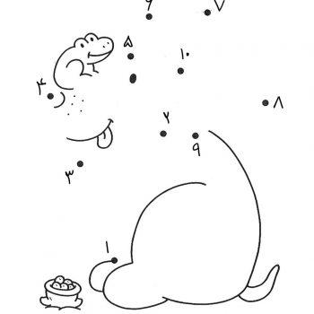 زرافه-جادویی-نقاشی-نقطه-به-نقطه-052