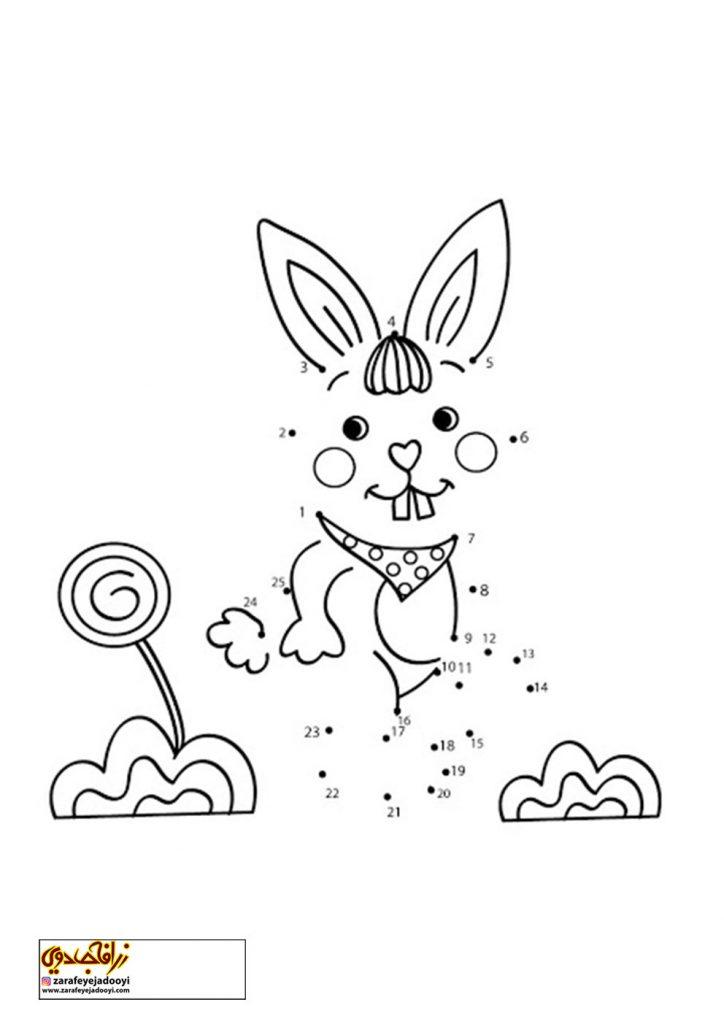 نقاشی نقطه به نقطه خرگوش 2